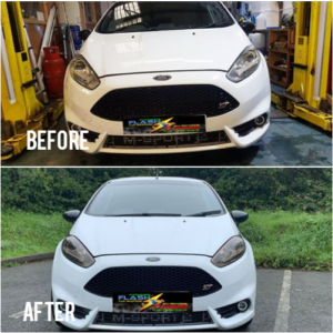 Ford Focus ST headlights tint Before and After