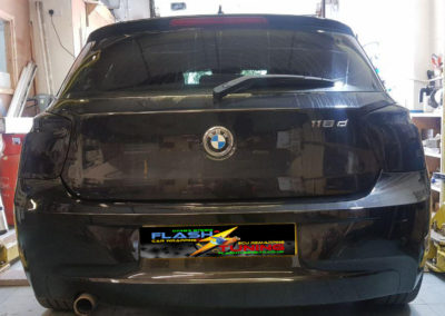 BMW tail lights after tint
