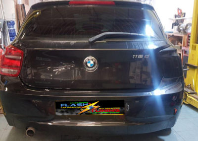 BMW tail lights before tint