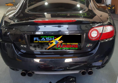 Tail Lights on a Jaguar XKR X150 Before