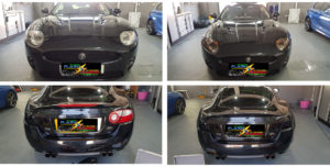 Headlights and Tail Lights on a Jaguar XKR X150
